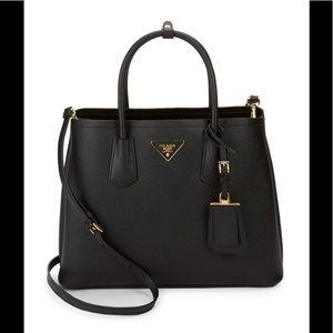 Prada Double Saffiano Leather Bag!